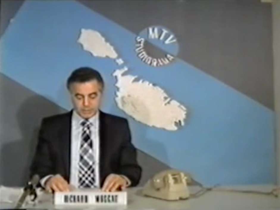 The author: Richard Muscat during an early broadcast on MTV Studiorama